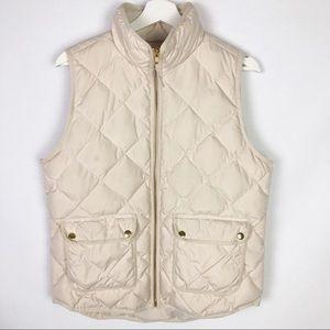 J. Crew zip up down quilted vest